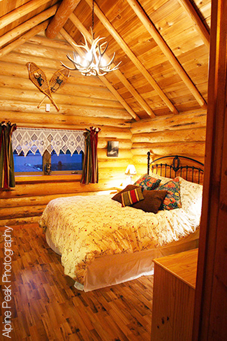 banff log cabin b b